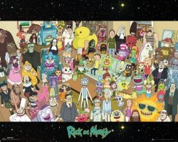 Rick and Morty Cast - plakat z serialu