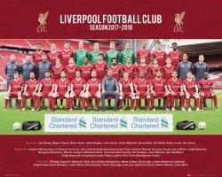 Liverpool Skład 17/18 - plakat