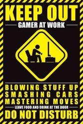 Gamer At Work - plakat