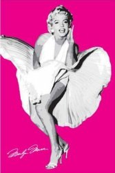 Marilyn Monroe (Seven Year Itch Pink) - plakat