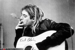 Kurt Cobain (smoking) - plakat