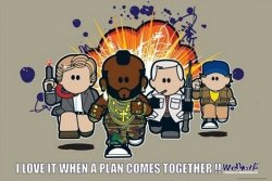 Weenicons (The A-team) - plakat