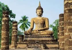 Fototapeta na ścianę - Sukhothai, Wat Sra Si Temple - 366x254cm