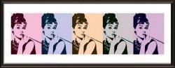 Audrey Hepburn Cigarello - obraz w ramie