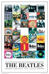 The Beatles (through years) - plakat