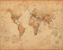 Mapa Świata (ye olde ang.) - plakat
