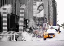 Fototapeta na ścianę - Taksówka, New York - 254x183 cm