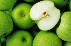 Fototapeta do kuchni - Zielone Jabłka - 175x115 cm