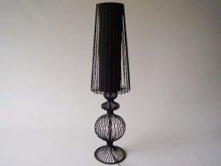 Lampa podłogowa - Czarny Ażur - 20x76cm