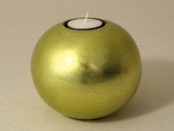Świecznik - Kula - Limonka - Ceramika - 12x10cm