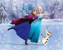 Fototapeta dla dzieci - Kraina Lodu - Frozen - 3D - Walltastic - 243,8x304,8 cm