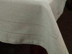 Obrus na stół - Chłodny beż - 100% Bawełny -140x180cm