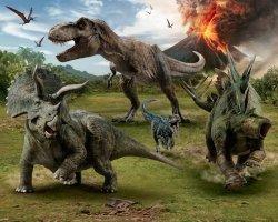 Fototapeta dla dzieci - Dinozaury - Jurassic World 3D - 244x305cm