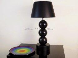 Lampa stołowa - Czarna PERLA III - 40x76cm