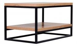 Półka uniwersalna - Stolik 100cm - Metal z drewnem