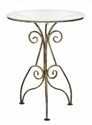 Stolik szklany, okrągły, Retro - DecoArt24