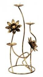 Świecznik na 3 Świece - Kwiatuszek