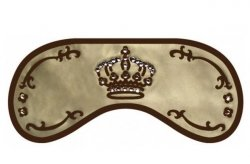 Opaska na Oczy - Wzór Swarovski Crown złoto