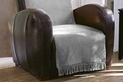 Narzuta na fotel - 100x200 cm - Srebrny