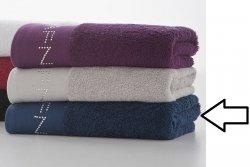 Ręcznik - 100% Bawełny - 50x100 cm - Diamonds Granatowy