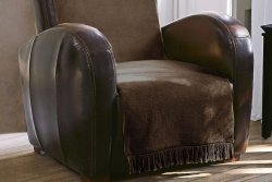 Narzuta na fotel - 50x200 cm - Czekolada