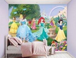 Fototapeta dla dzieci - Disney Princess 2 - 3D - Walltastic - 243,8x304,8 cm