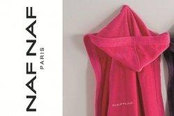 Szlafrok damski - Różowy - 100% Bawełna - M - NAF NAF