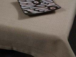 Obrus na stół - Czekoladowy Beż - 100% Bawełny - 90x90cm