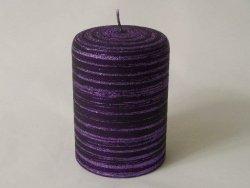 Świeca ozdobna - Fiolet velvet - 7x10cm