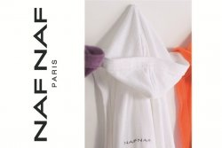 Szlafrok - Biały - 100% Bawełna - Rozmiar S - NAF NAF
