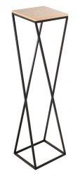 Kwietnik metalowy - Stojak wielofunkcyjny ukośny z blatem - 84x22cm