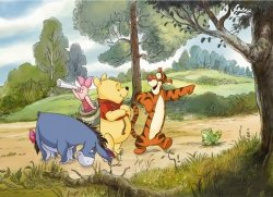 Fototapeta dla dzieci - Kubuś Puchatek i Przyjaciele Disney - 254x184cm