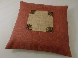 Poszewka dekoracyjna - Indyjski Róż - Z rafii - 45x45cm