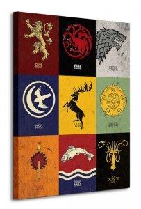 Game of Thrones (Sigils) - Obraz na płótnie