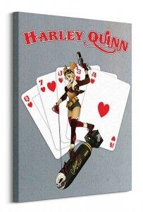 DC Comics Harley Quinn (Cards) - Obraz na płótnie
