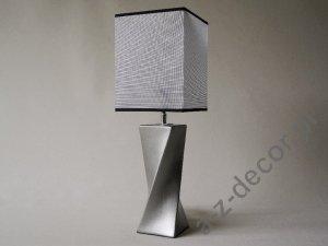 Lampka nocna - Srebrna - S-TWISS - 17x17x52cm