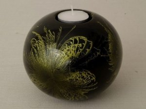 Świecznik - Kula - Ceramika - 12x10cm