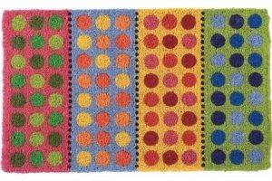 Wycieraczka wejściowa - Polka Dots - 44 x 74 x 2 cm