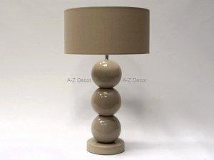 Lampa Stołowa - Trzy Perły cappucino - 40x68cm