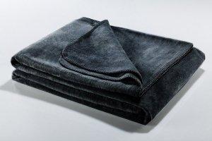 Koc - Grafitowy - SoftLine Grey - 130x180 cm