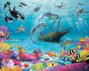 Fototapeta dla dzieci - Sea Adventure 2 - 3D - Walltastic