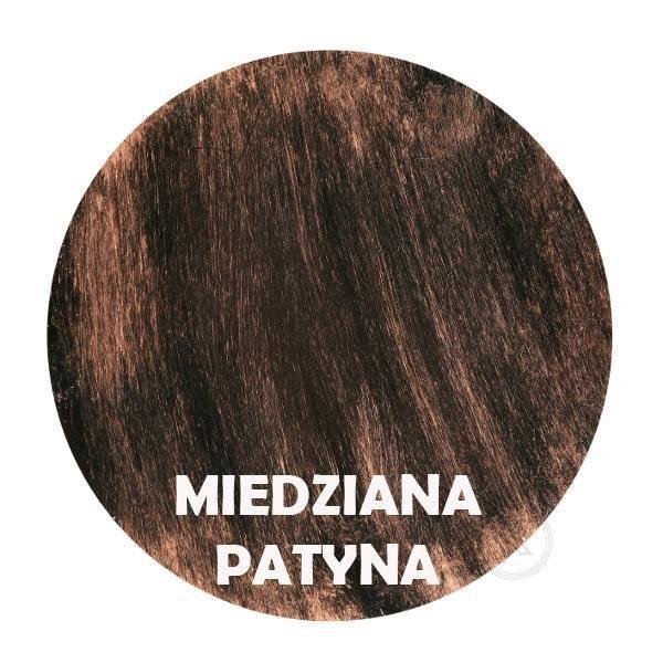 Miedziana patyna - Kolor kwietnika - Kolumna 5-ka z różą - DecoArt24.pl