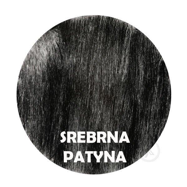 Srebrna patyna - kolorystyka metalu - Kwietnik duży kuty - Sklep Decoart24.pl