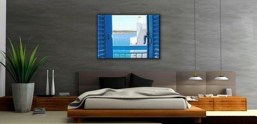 Obraz na ścianę - Grecja, balkon na Krecie - 120x90 cm - Dekoracje na ścianę - Sklep DecoArt24.pl