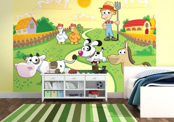 Fototapeta do pokoju niemowlaka - Farmer i zwierzaki - decoart24