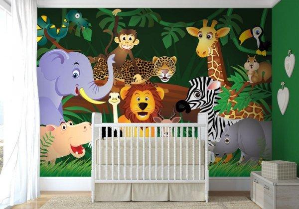 Fototapeta dziecięca - Dzikie zwierzaki - Sklep decoart24.pl