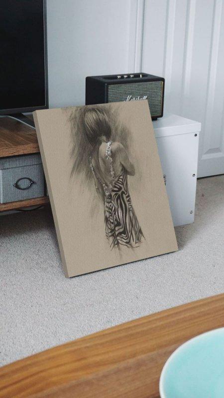 Obraz do sypialni - Shadow I - 60x80 cm