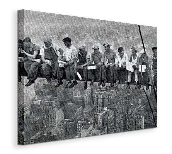Obraz na płótnie - Robotnicy na belce - Lunch On A Skyscraper -  90x120 cm