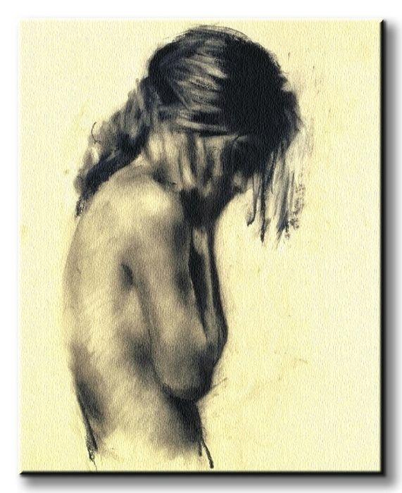 Obraz na płótnie - Dziewczyna - Girl - 40x50 cm