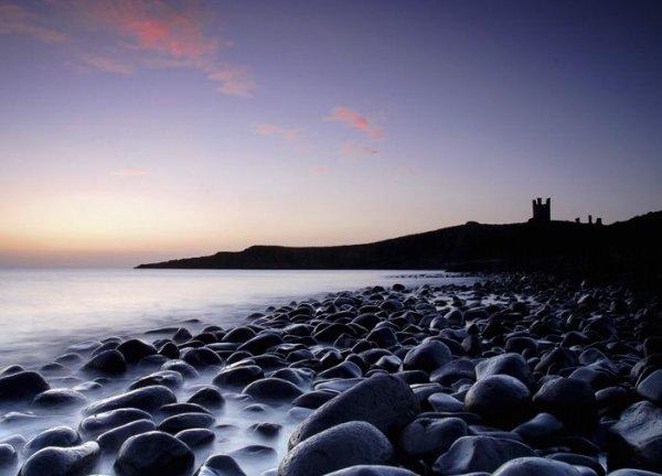Fototapeta na ścianę - Zamek, Dunstanburgh - 254x183 cm